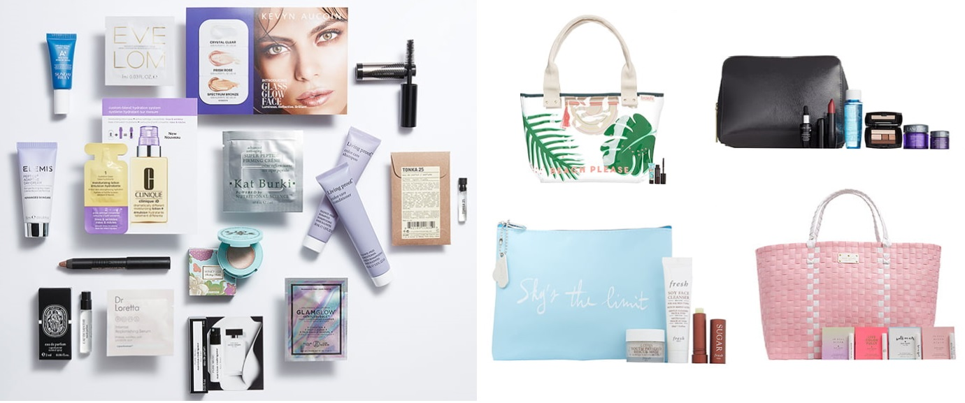 Nordstrom Beauty Sampler and gifts with purchase